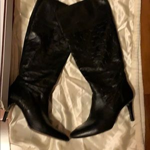 Coach leather heeled boots size 9